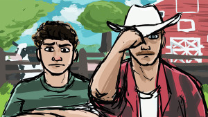 Walt (left) and Jeff (right). Concept art by Kacie Hermanson.